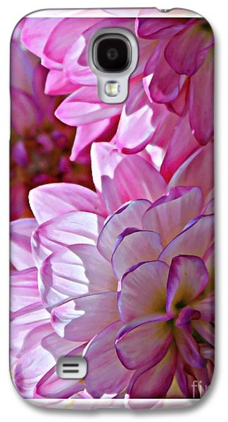 Sunlight On Flowers Galaxy S4 Cases - Sunlight through Pink Dahlias Galaxy S4 Case by Carol Groenen