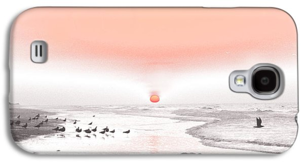 Contemplative Photographs Galaxy S4 Cases - Pastel Sunrise Beach Galaxy S4 Case by Tom Wurl