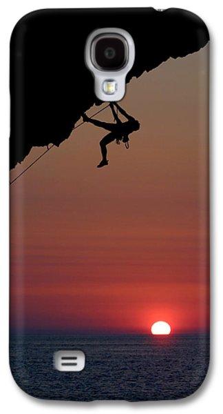 Climbing Galaxy S4 Cases - Sunrise Climber Galaxy S4 Case by Neil Buchan-Grant