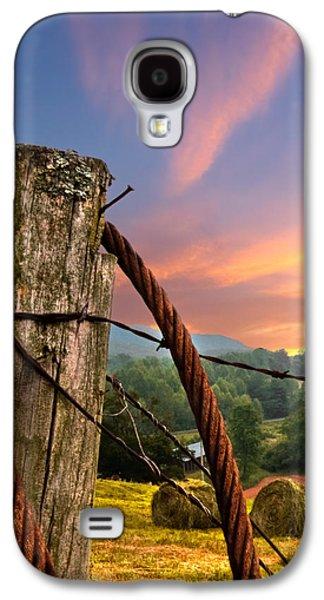 Tennessee Hay Bales Galaxy S4 Cases - Sunrise Lasso Galaxy S4 Case by Debra and Dave Vanderlaan