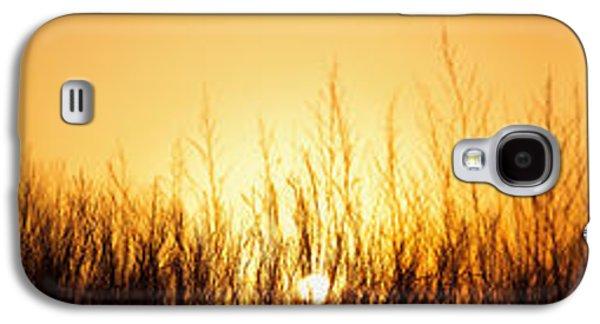 Prairie Galaxy S4 Cases - Sunrise Over Nachusa Grasslands Galaxy S4 Case by Steve Gadomski