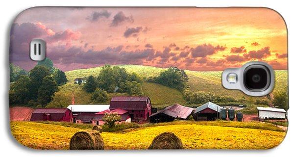 Tn Barn Galaxy S4 Cases - Sunrise Pastures Galaxy S4 Case by Debra and Dave Vanderlaan