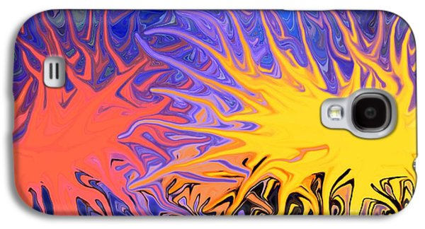 Sunset Abstract Mixed Media Galaxy S4 Cases - Sunrise Sunset Galaxy S4 Case by Chris Butler