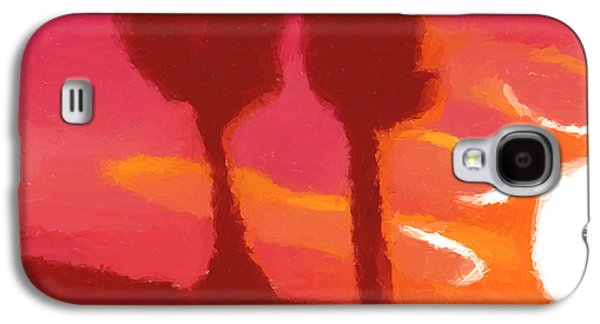 Sunset Abstract Galaxy S4 Cases - Sunset abstract trees Galaxy S4 Case by Pixel Chimp