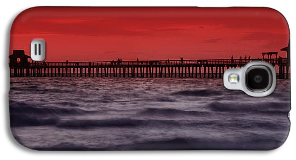 Relaxed Galaxy S4 Cases - Sunset at Naples Pier Galaxy S4 Case by Melanie Viola