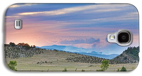 Fort Collins Galaxy S4 Cases - Sunset at the Colorado High Park Wildfire  Galaxy S4 Case by James BO  Insogna