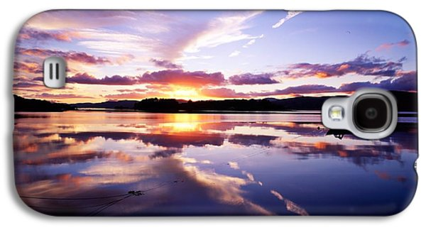 Boats In Reflecting Water Galaxy S4 Cases - Sunset, Dinish Island Kenmare Bay Galaxy S4 Case by The Irish Image Collection