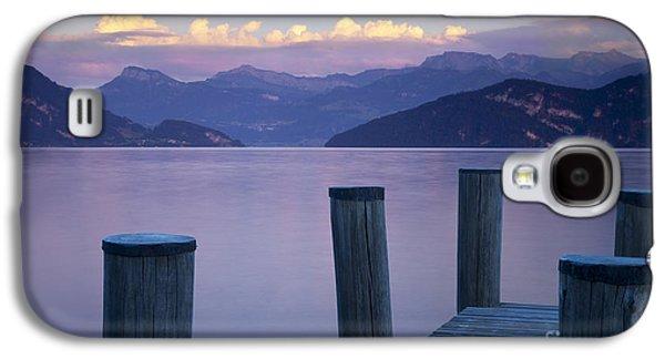 Lucerne Galaxy S4 Cases - Sunset Dock Galaxy S4 Case by Brian Jannsen
