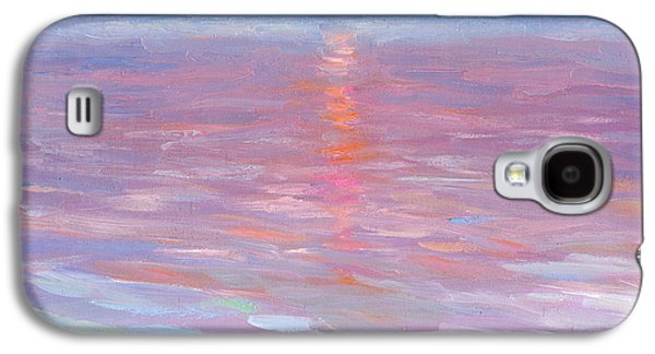 Sun Drawings Galaxy S4 Cases - Sunset ocean seascape oil painting Galaxy S4 Case by Svetlana Novikova