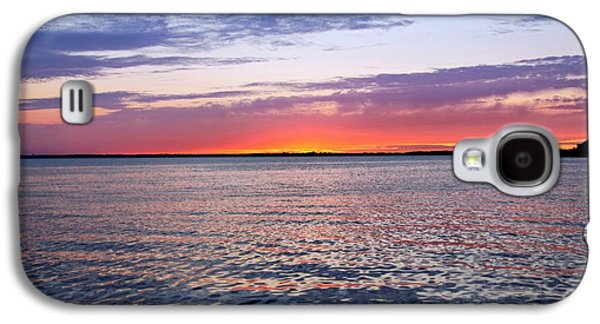 Sunset Posters Galaxy S4 Cases - Sunset On Barnegat Bay I - Jersey Shore Galaxy S4 Case by Angie Tirado