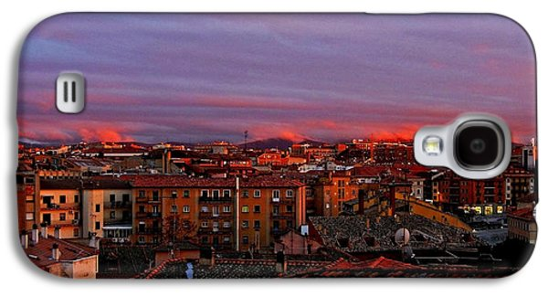 Spanien Galaxy S4 Cases - Sunset over Segovia ... Galaxy S4 Case by Juergen Weiss