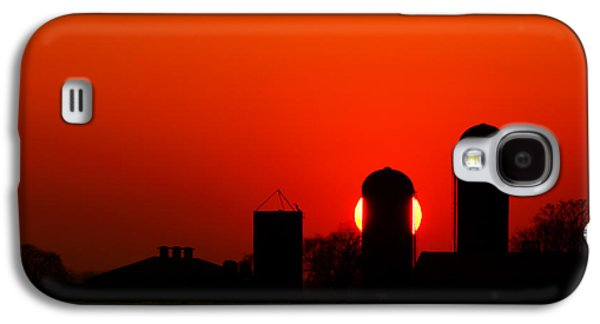 Silos Galaxy S4 Cases - Sunset Silo Galaxy S4 Case by Cale Best