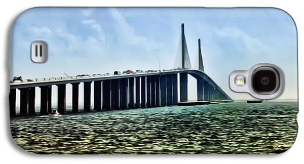 Sunshine Skyway Bridge Galaxy S4 Cases - Sunshine Skyway Bridge - Tampa Bay Galaxy S4 Case by Bill Cannon