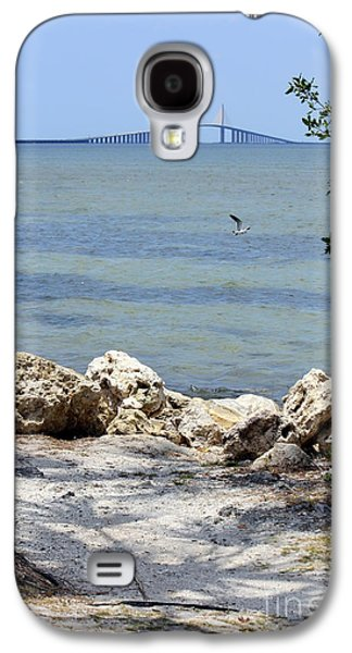 Sunshine Skyway Bridge Galaxy S4 Cases - Sunshine Skyway from the Causeway Galaxy S4 Case by Carol Groenen
