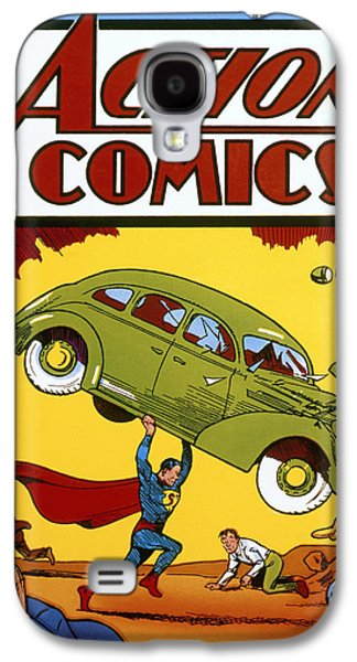 Automobiles Photographs Galaxy S4 Cases - Superman Comic Book, 1938 Galaxy S4 Case by Granger