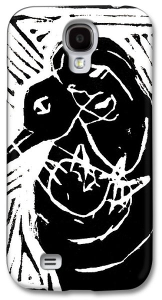 Lino Paintings Galaxy S4 Cases - Swan and Human Mothers Galaxy S4 Case by Anon Artist