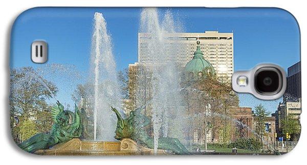 Phillies Art Galaxy S4 Cases - Swann Fountain at Logans Circle Galaxy S4 Case by John Greim