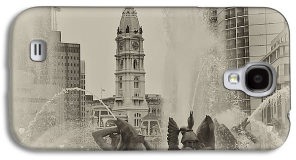 Downtown Franklin Galaxy S4 Cases - Swann Memorial Fountain in Sepia Galaxy S4 Case by Bill Cannon