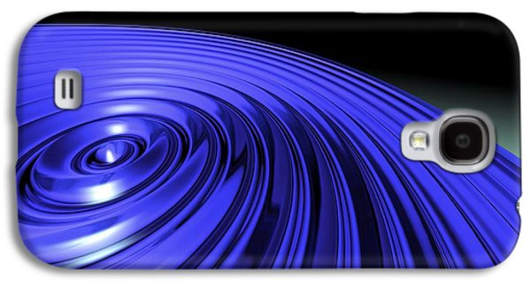 Blue Abstracts Galaxy S4 Cases - Swirl, Abstract Artwork Galaxy S4 Case by Studio Macbeth