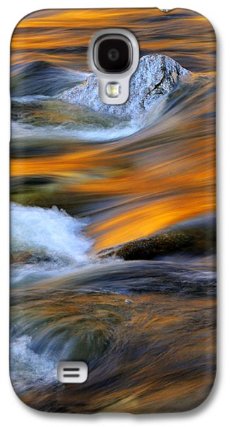 Nature Abstract Galaxy S4 Cases - Swirls and Patterns of Nature - Swift River Reflections Galaxy S4 Case by Thomas Schoeller