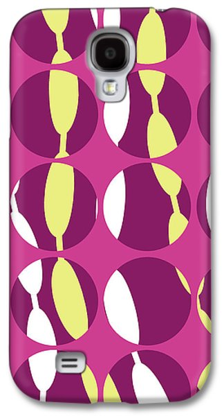 Louisa Galaxy S4 Cases - Swirly Stripe Galaxy S4 Case by Louisa Knight