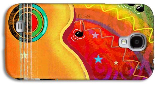 Svetlana Novikova Digital Art Galaxy S4 Cases - SXSW Musical Guitar fantasy painting print Galaxy S4 Case by Svetlana Novikova