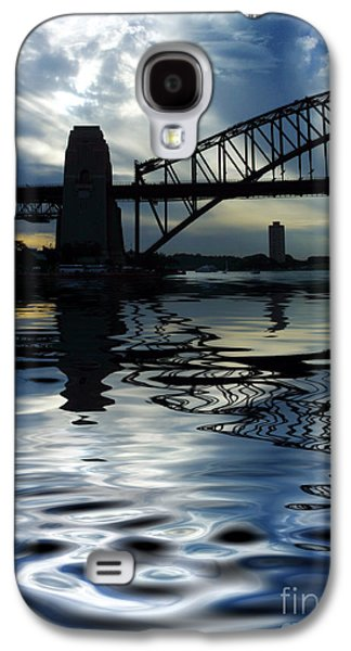 Bridge Galaxy S4 Cases - Sydney Harbour Bridge reflection Galaxy S4 Case by Sheila Smart