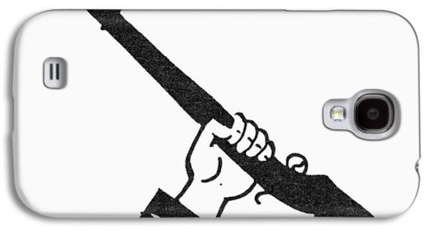 Bayonet Galaxy S4 Cases - Symbol: Raised Gun Galaxy S4 Case by Granger