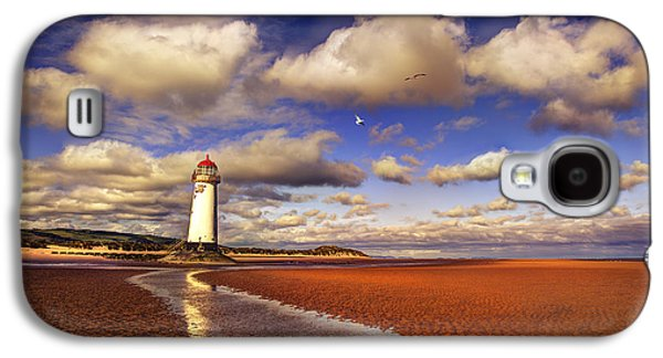 Lighthouse Galaxy S4 Cases - Talacre Lighthouse Galaxy S4 Case by Mal Bray