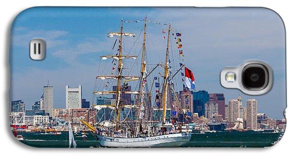 Landmarks Photographs Galaxy S4 Cases - Tall ship Dewaruci enters Boston Galaxy S4 Case by Susan Cole Kelly