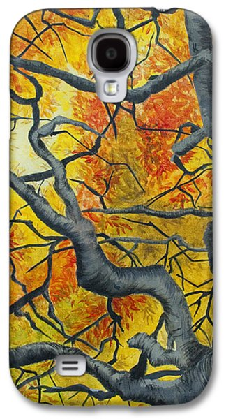 Nature Abstracts Galaxy S4 Cases - Tangled Galaxy S4 Case by Jaime Haney