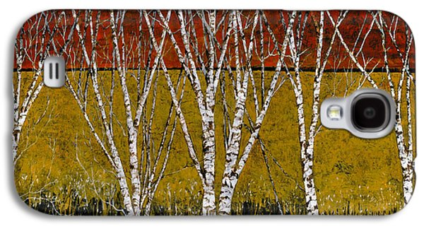 Branches Paintings Galaxy S4 Cases - Tante Betulle Galaxy S4 Case by Guido Borelli