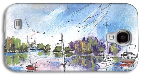 Waterscape Drawings Galaxy S4 Cases - Tarn et Garonne in France 02 Galaxy S4 Case by Miki De Goodaboom