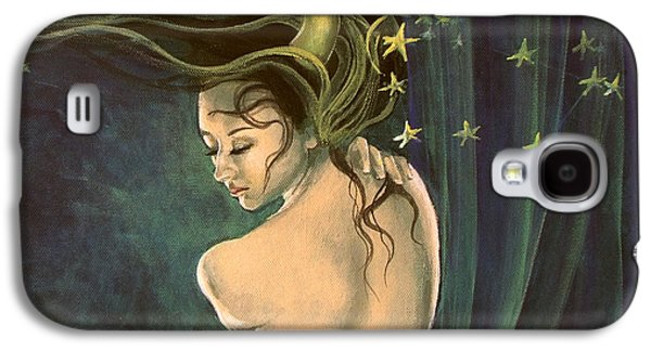 Constellations Paintings Galaxy S4 Cases - Taurus from Zodiac series Galaxy S4 Case by Dorina  Costras