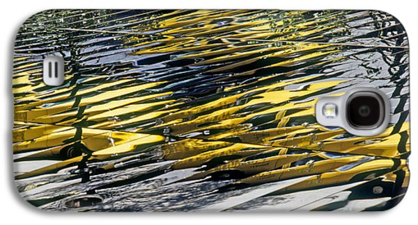 Business Decor Galaxy S4 Cases - Taxi Abstract Galaxy S4 Case by Tony Cordoza