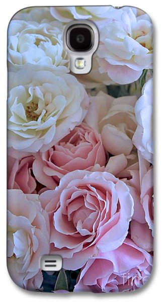 Dressing Room Galaxy S4 Cases - Tea Time Roses Galaxy S4 Case by Carol Groenen
