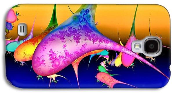 Whale Digital Art Galaxy S4 Cases - Techno pod Galaxy S4 Case by Sharon Lisa Clarke
