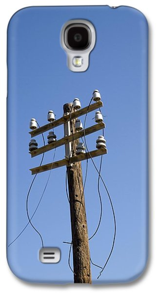 Telephone Poles Galaxy S4 Cases - Telephone Pole And Wires Galaxy S4 Case by David Parker