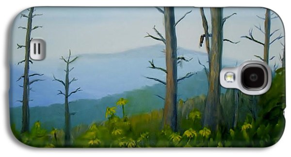 Smokey Mountains Paintings Galaxy S4 Cases - Tennessee Mts. Galaxy S4 Case by Phebe Smith