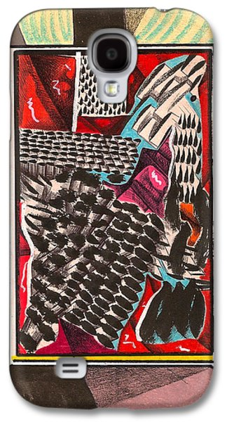Behind The Scenes Drawings Galaxy S4 Cases - Tent Corner Occurrence  Galaxy S4 Case by Al Goldfarb