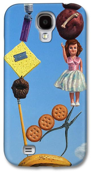 Still Life Paintings Galaxy S4 Cases - Tenuous Still-Life 2 Galaxy S4 Case by James W Johnson