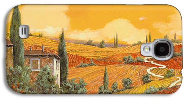 Sunflower Paintings Galaxy S4 Cases - terra di Siena Galaxy S4 Case by Guido Borelli