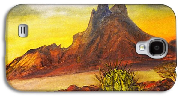 Sonora Paintings Galaxy S4 Cases - Tetakawi San Carlos Sonora Mexico Galaxy S4 Case by Veronica Zimmerman