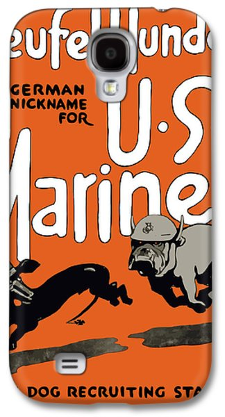 Patriotic Mixed Media Galaxy S4 Cases - Teufel Hunden German Nickname For US Marines Galaxy S4 Case by War Is Hell Store