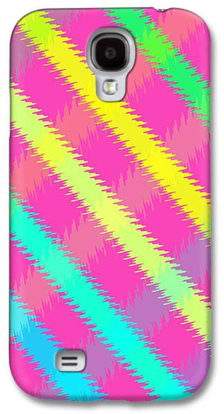Textured Digital Art Galaxy S4 Cases - Textured Check Galaxy S4 Case by Louisa Knight