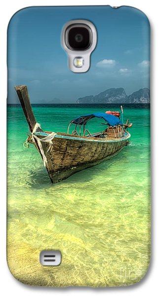 Coastline Digital Art Galaxy S4 Cases - Thai Longboat  Galaxy S4 Case by Adrian Evans