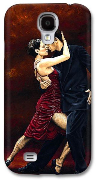 Male Paintings Galaxy S4 Cases - That Tango Moment Galaxy S4 Case by Richard Young