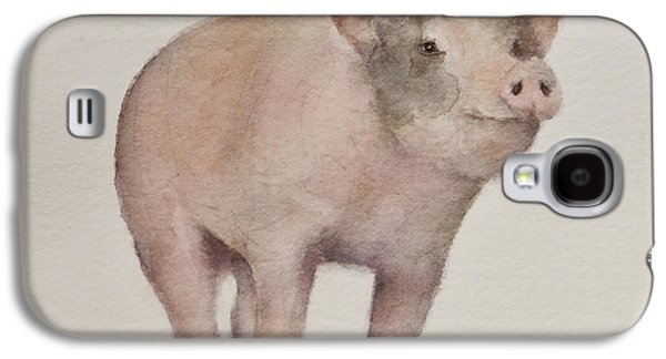 Piglets Paintings Galaxy S4 Cases - Thats Some Pig Galaxy S4 Case by Teresa Silvestri