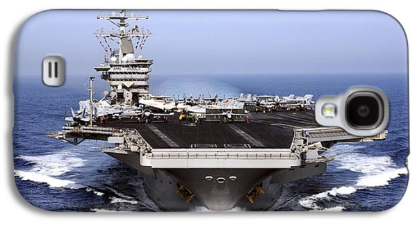 Color Image Galaxy S4 Cases - The Aircraft Carrier Uss Dwight D Galaxy S4 Case by Stocktrek Images