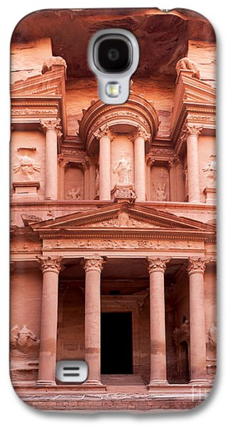Civilization Galaxy S4 Cases - The ancient Treasury Petra Galaxy S4 Case by Jane Rix
